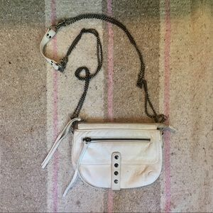 White leather UO chain purse